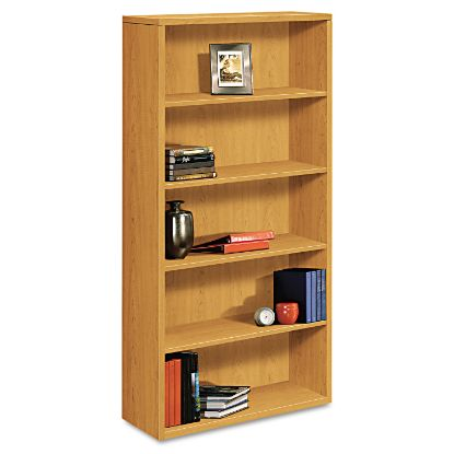 Picture of 10500 Series Laminate Bookcase, Five-Shelf, 36w x 13-1/8d x 71h, Harvest