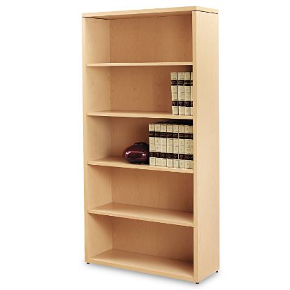 Picture of 10500 Series Laminate Bookcase, Five-Shelf, 36w x 13-1/8d x 71h, Natural Maple