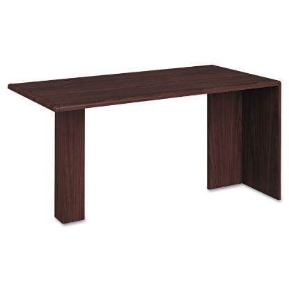 Picture of 10700 Series Peninsula with End Panel, Wood Support Column, 60w x 30d x 29.5h, Mahogany