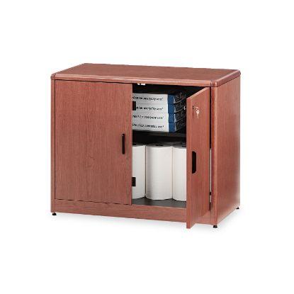 Picture of 10700 Series Locking Storage Cabinet, 36w x 20d x 29 1/2h, Bourbon Cherry