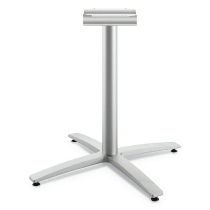 """Picture of Between Seated-Height X-Base for 30""""-36"""" Table Tops, Silver"""