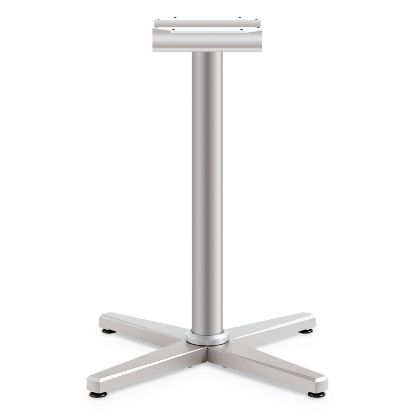 """Picture of Arrange X-Leg Base for 30-36"""" Tops, 25.59w x 27.88h, Silver"""