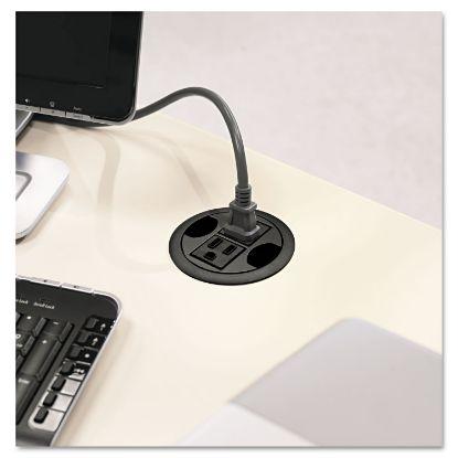 "Picture of AC Power Hub, 3"" Diameter, Black"