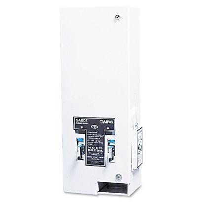 Picture of Dual Sanitary Napkin/Tampon Dispenser, Coin, 11 1/8 x 7 5/8 x 26 3/8, White