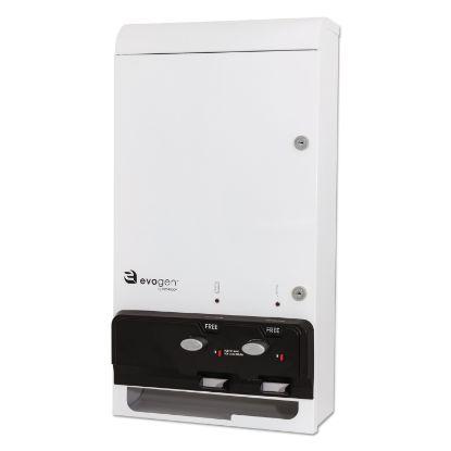 """Picture of Evogen Feminine Hygiene Dispenser, Metal, 14"""" x 7.75"""" x 26.25"""", White"""