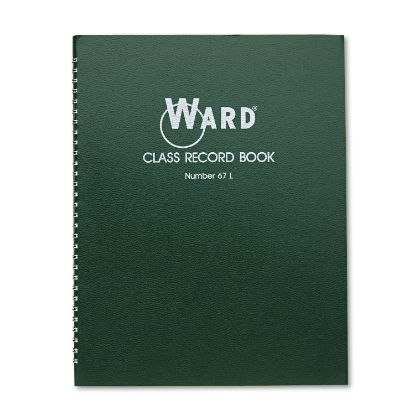 Picture of Class Record Book, 38 Students, 6-7 Week Grading, 11 x 8-1/2, Green