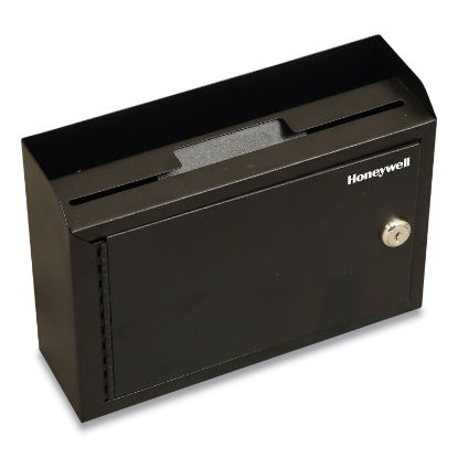 Picture of Drop Box Safe with Keys, 9.9 x 3 x 7.1, 0.12 cu ft, Black