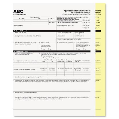 Picture of Digital Carbonless Paper, 2-Part, 8.5 x 11, White/Canary, 2, 500/Carton