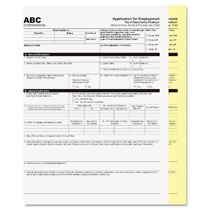 Picture of Digital Carbonless Paper, 2-Part, 8.5 x 11, White/Canary, 1, 250/Carton