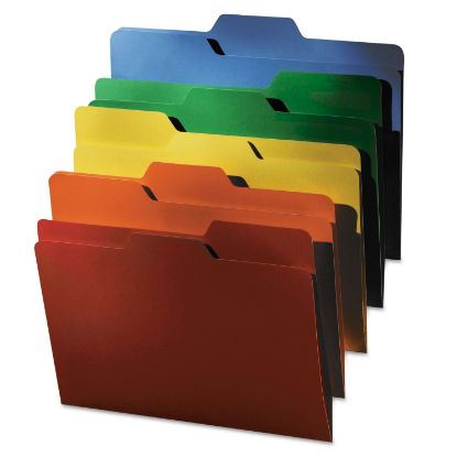 Picture of All Tab File Folders, 1/3-Cut Tabs, Letter Size, Assorted, 80/Pack
