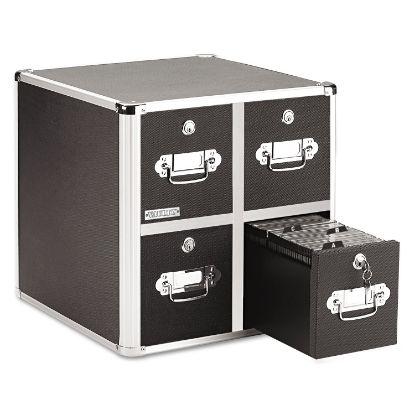 Picture of 4-Drawer CD File Cabinet, Holds 660 Folders or 240 Slim/120 Standard Cases, Black