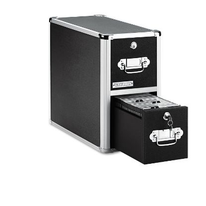 Picture of 2-Drawer CD File Cabinet, Holds 330 Folders or 120 Slim/60 Standard Cases, Black