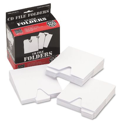Picture of CD File Folders, 100/Pack