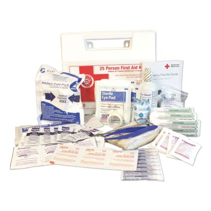 Picture of 25-Person First Aid Kit, 107 Pieces, Plastic Case