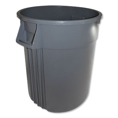 Picture of Advanced Gator Waste Container, Round, Plastic, 44 gal, Gray