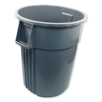 Picture of Advanced Gator Waste Container, Round, Plastic, 55 gal, Gray