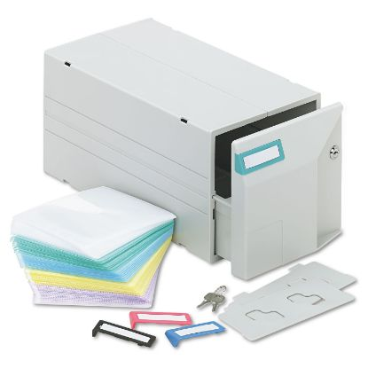 Picture of CD/DVD Storage Drawer, Holds 150 Discs, Light Gray