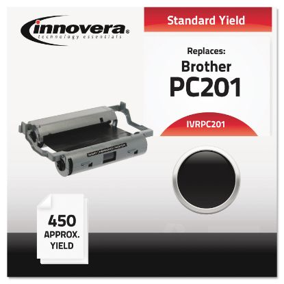 Picture of Compatible Black Thermal Transfer Print Cartridge, Replacement for Brother PC201, 450 Page-Yield