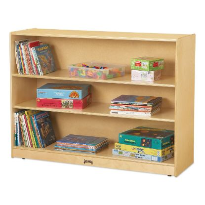 Picture of Adjustable Mobile Straight-Shelves, Super-Sized, 48w x 15d x 35.5h, Birch