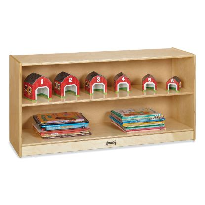 Picture of Adjustable Mobile Straight-Shelves, Toddler, 48w x 15d x 24.5h, Birch