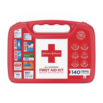 Picture of All-Purpose First Aid Kit, 140-Pieces, Plastic Case