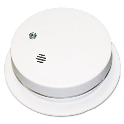 """Picture of Battery-Operated Smoke Alarm Unit, 9V, 85db Alarm, 3 7/8"""" dia"""