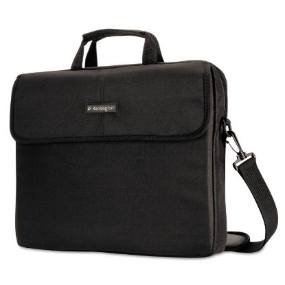 """Picture of 15.6"""" Simply Portable Padded Laptop Sleeve, Inside/Outside Pockets, Black"""