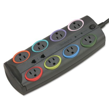 Picture of 8-Outlet Adapter Model Surge Protector, Black, 8 ft Cord, 3090 Joules
