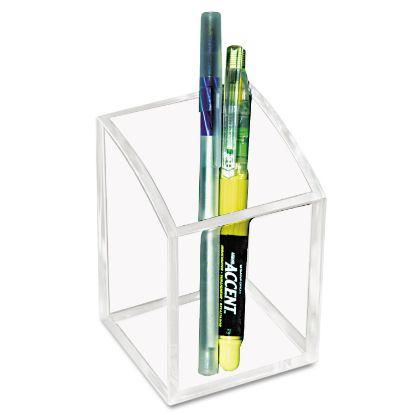 Picture of Acrylic Pencil Cup, 2 3/4 x 2 3/4 x 4, Clear