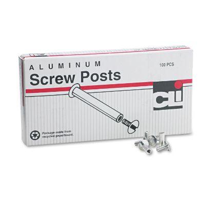 """Picture of Post Binder Aluminum Screw Posts, 3/16"""" Diameter, 1/2"""" Long, 100/Box"""