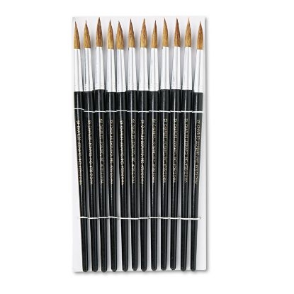 Picture of Artist Brush, Size 12, Camel Hair, Round, 12/Pack