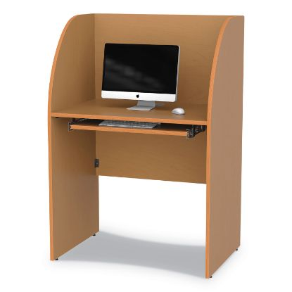 Picture of Study Carrell, 23.5w x 33d x 48.25h, Maple