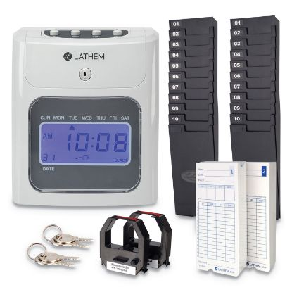 Picture of 400E Top-Feed Time Clock Bundle, White