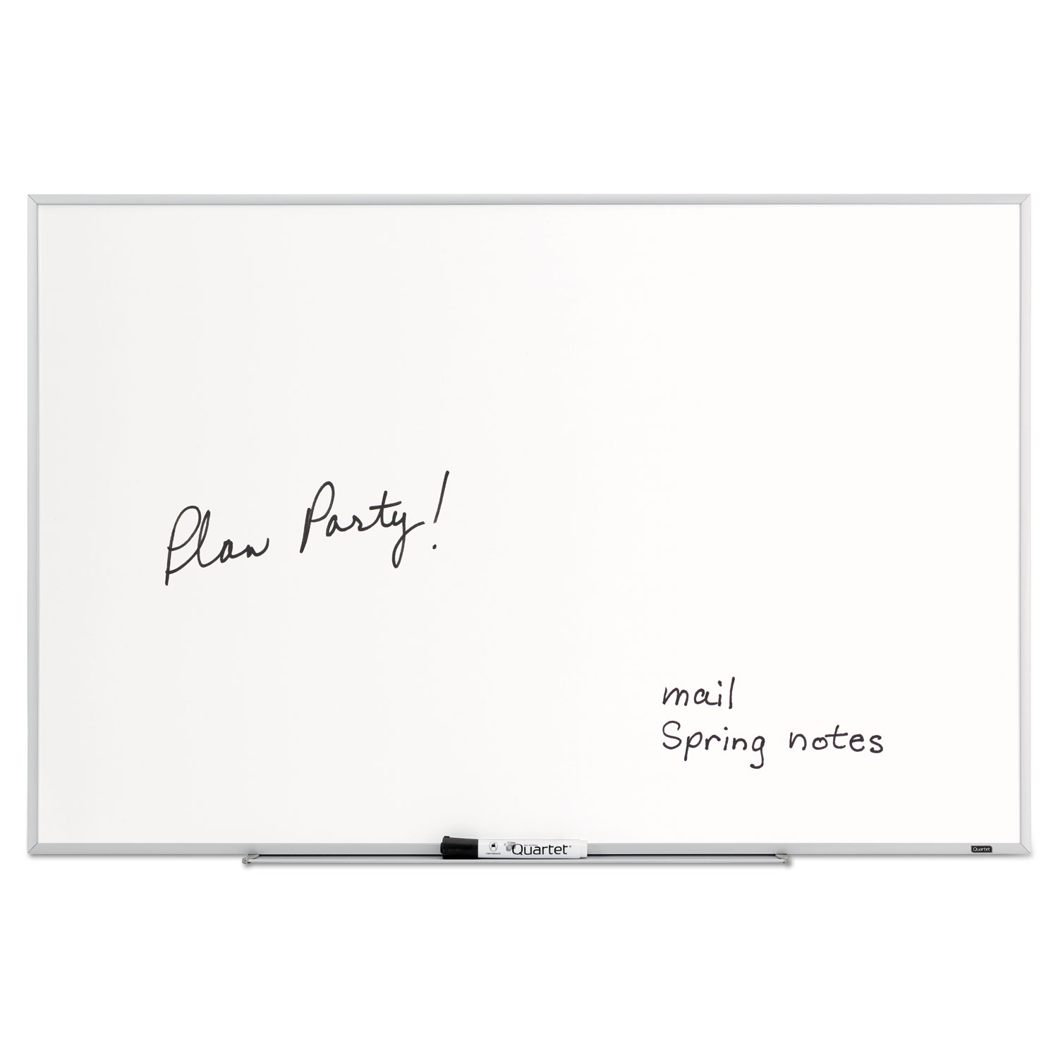 Picture of Dry Erase Board, Melamine Surface, 36 x 24, Silver Aluminum Frame