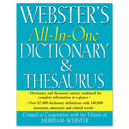Picture of All-In-One Dictionary/Thesaurus, Hardcover, 768 Pages