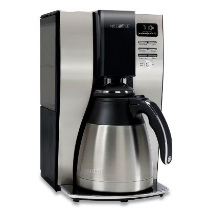 Picture of 10-Cup Thermal Programmable Coffeemaker, Stainless Steel/Black
