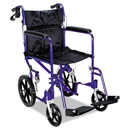 Picture of Excel Deluxe Aluminum Transport Wheelchair, 19w x 16d, 300 lb Capacity