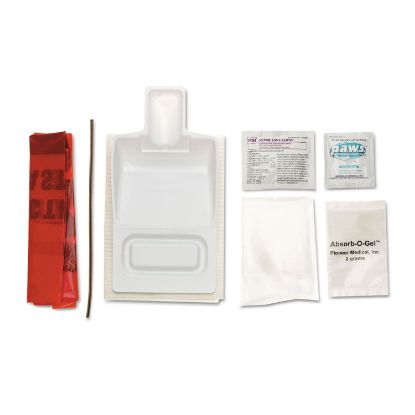 Picture of Biohazard Fluid Clean-Up Kit, 7 Pieces, Synthetic-Fabric Bag