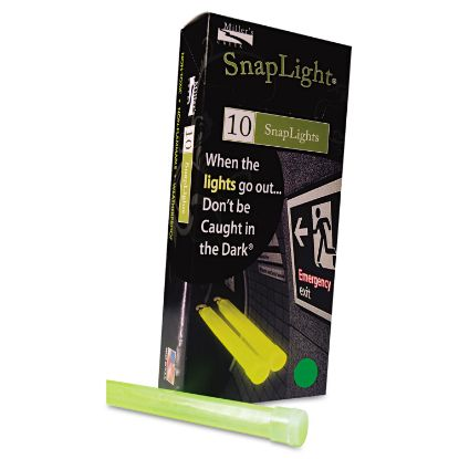 """Picture of Snaplights, 6""""l x 3/4""""w, Green, 10/Box"""