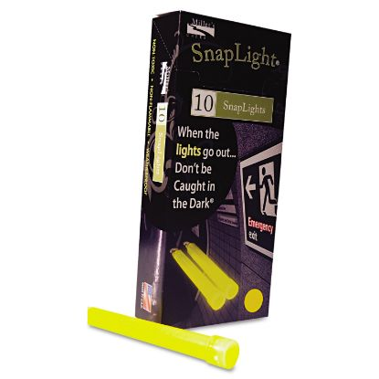 """Picture of Snaplights, 6""""l x 3/4""""w, Yellow, 10/Box"""