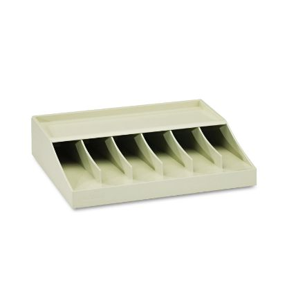 """Picture of Bill Strap Rack, 6 Pockets, 10-5/8"""" w x 8-5/16"""" d x 2-5/16"""" h, Putty"""
