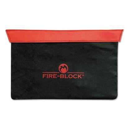 Picture of Fire-Block Document Portfolio, 15 1/2 x 10 x 1/2, Red/Black
