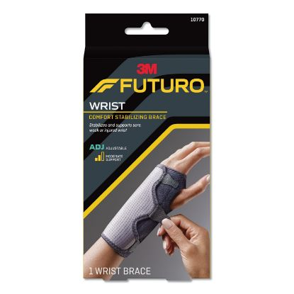 "Picture of Adjustable Reversible Splint Wrist Brace, Fits Wrists 5 1/2""- 8 1/2"", Black"