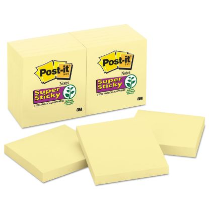 Picture of Canary Yellow Note Pads, 3 x 3, 90-Sheet, 12/Pack