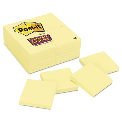 Picture of Canary Yellow Note Pads, 3 x 3, 90-Sheet, 24/Pack