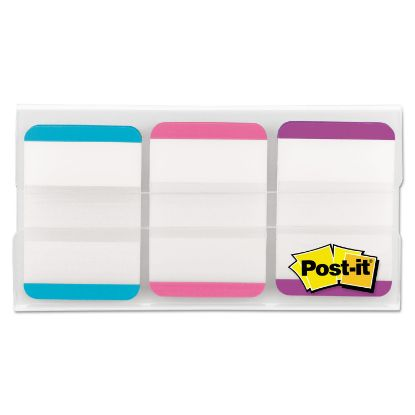 """Picture of 1"""" Tabs, 1/5-Cut Tabs, Lined, Assorted Pastels, 1"""" Wide, 66/Pack"""