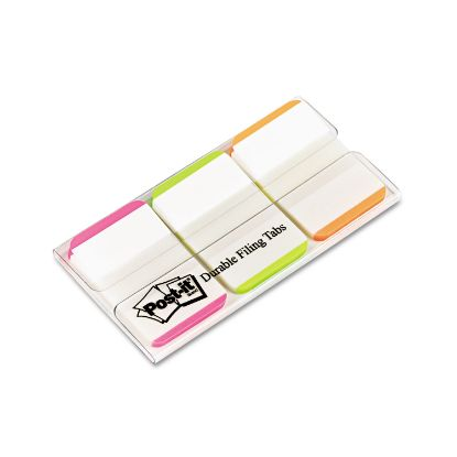 """Picture of 1"""" Tabs, 1/5-Cut Tabs, Lined, Assorted Brights, 1"""" Wide, 66/Pack"""