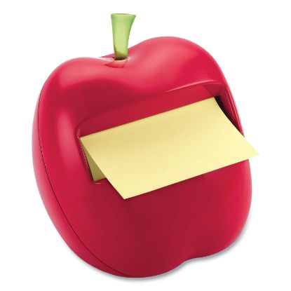 Picture of Apple-Shaped Dispenser for 3 x 3 Self-Stick Pads, Red