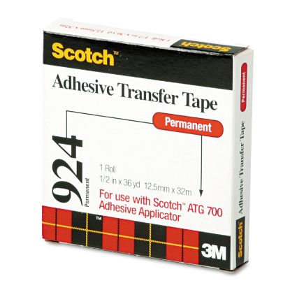 """Picture of Adhesive Transfer Tape, 1/2"""" Wide x 36yds"""