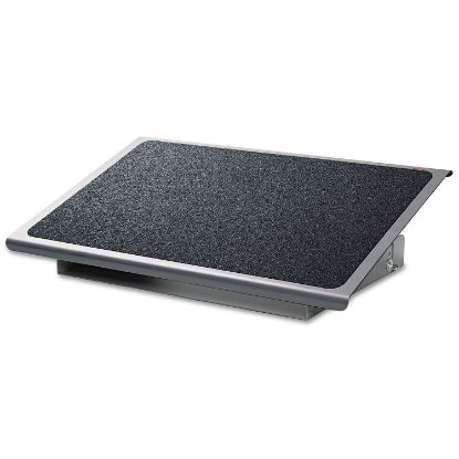 Picture of Adjustable Steel Footrest, Nonslip Surface, 22w x 14d x 4-3/4h, Black/Charcoal